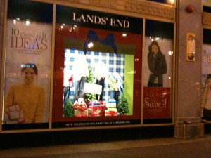Sears' Land's End Window Display on State Street Chicago
